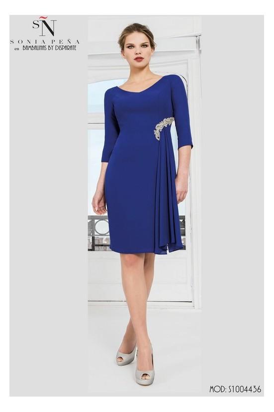 Comprar Vestidos Cortos Madrina Sonia Pena S1004436 En Moda Disparate Color Marino Talla 42